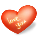 Heart Love You Sticker