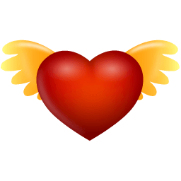 Heart Angel Wings Sticker