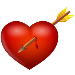 Arrow And Heart Sticker