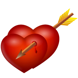 Arrow And Hearts Sticker