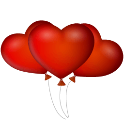 Heart Ballons Sticker
