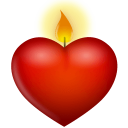 Heart Candle Sticker