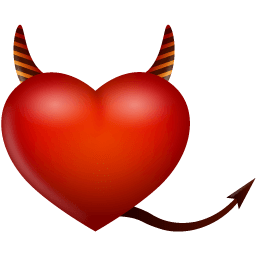 Heart Devil Sticker