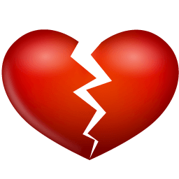 Heart Broken Sticker
