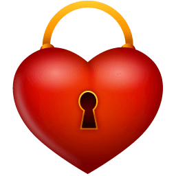 Heart Lock Sticker